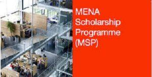 MENA Scholarship Programme (MSP)