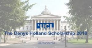 The Denys Holland Scholarship (UCL, UK) for Nigerians 2020