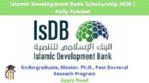 ISDB scholarships 2020