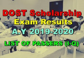 DOST Scholarship Results