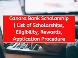 Canara Bank Scholarship 2020
