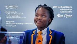 Joshua Nkomo Scholarship 2020