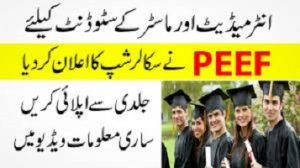 PEEF Scholarships for Masters Students 2020