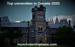 Top universities in Canada 2021