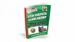 PTDF Scholarship Past Questions