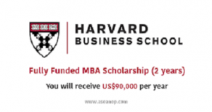 Scholarship at Harvard Business School
