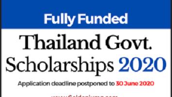 Thailand TIPP Scholarship 2021