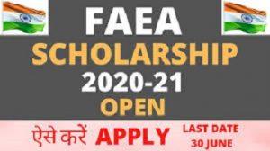 FAEA Scholarship 2020