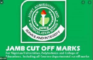 JAMB Cut off Mark 2020/2021