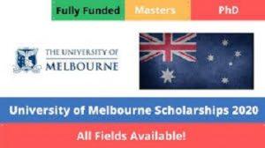 University of Melbourne Scholarships 2020