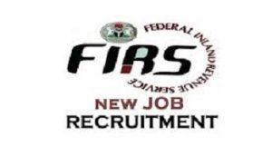 Federal inland revenue service FIRS Recruitment 2020