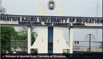 Ignatius Ajuru university IAUE cut off mark 2020