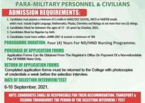 Nigerian Army school of Nursing application form is out