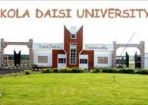 Kola Daisi University school fees for 2021