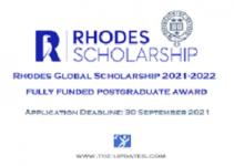 UK Rhodes Global Scholarships 2021