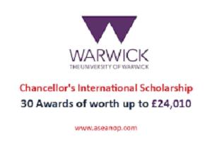 Chancellor's International Scholarships – University Of Warwick, UK